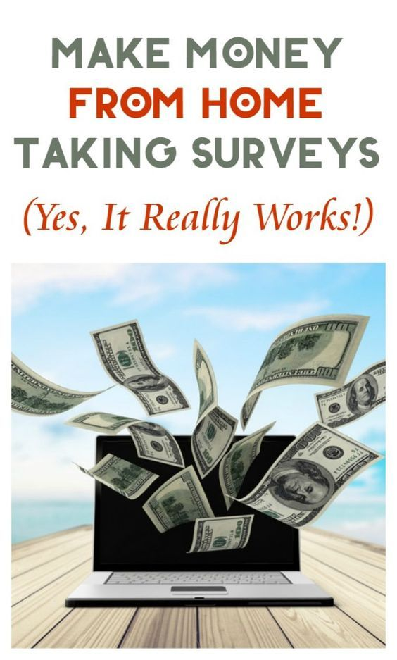 make extra money at home by taking surveys at opinion outpost