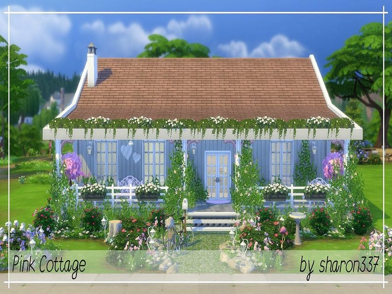 Sharon337 S Pink Cottage Sims Building The Sims 4 Lots Cottage