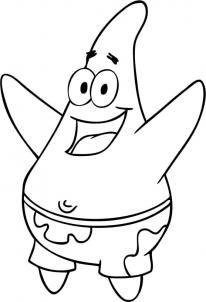 How To Draw Patrick : patrick, Nickelodeon, Patrick, Spongebob, Squarepants, Drawings,, Coloring, Pages,, Cartoon, Pages