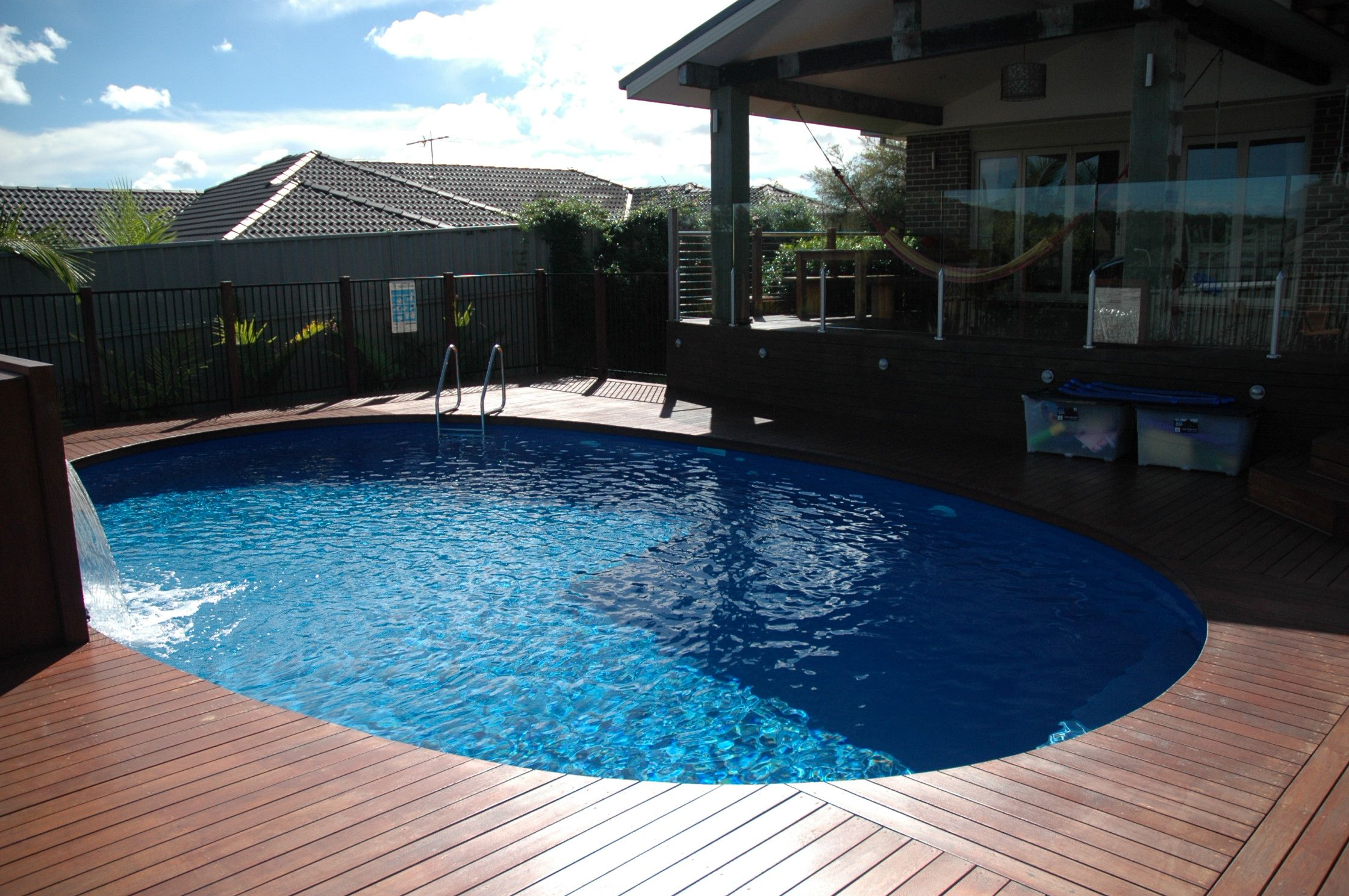 Very nice deck design above ground pool decks above - Nice above ground pools ...
