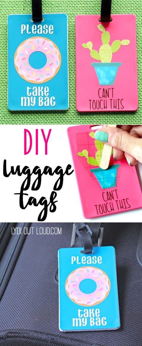 e3312e97b32b DIY Luggage Tags (That Talk) | Cricut Ideas from Bloggers and More ...