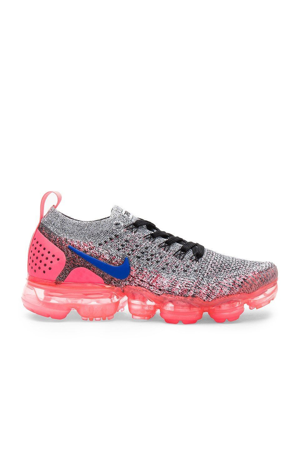 outlet store c3063 ebb86 Nike Air Vapormax Flyknit 2 Sneaker in White, Ultramarine Hot Punch    REVOLVE