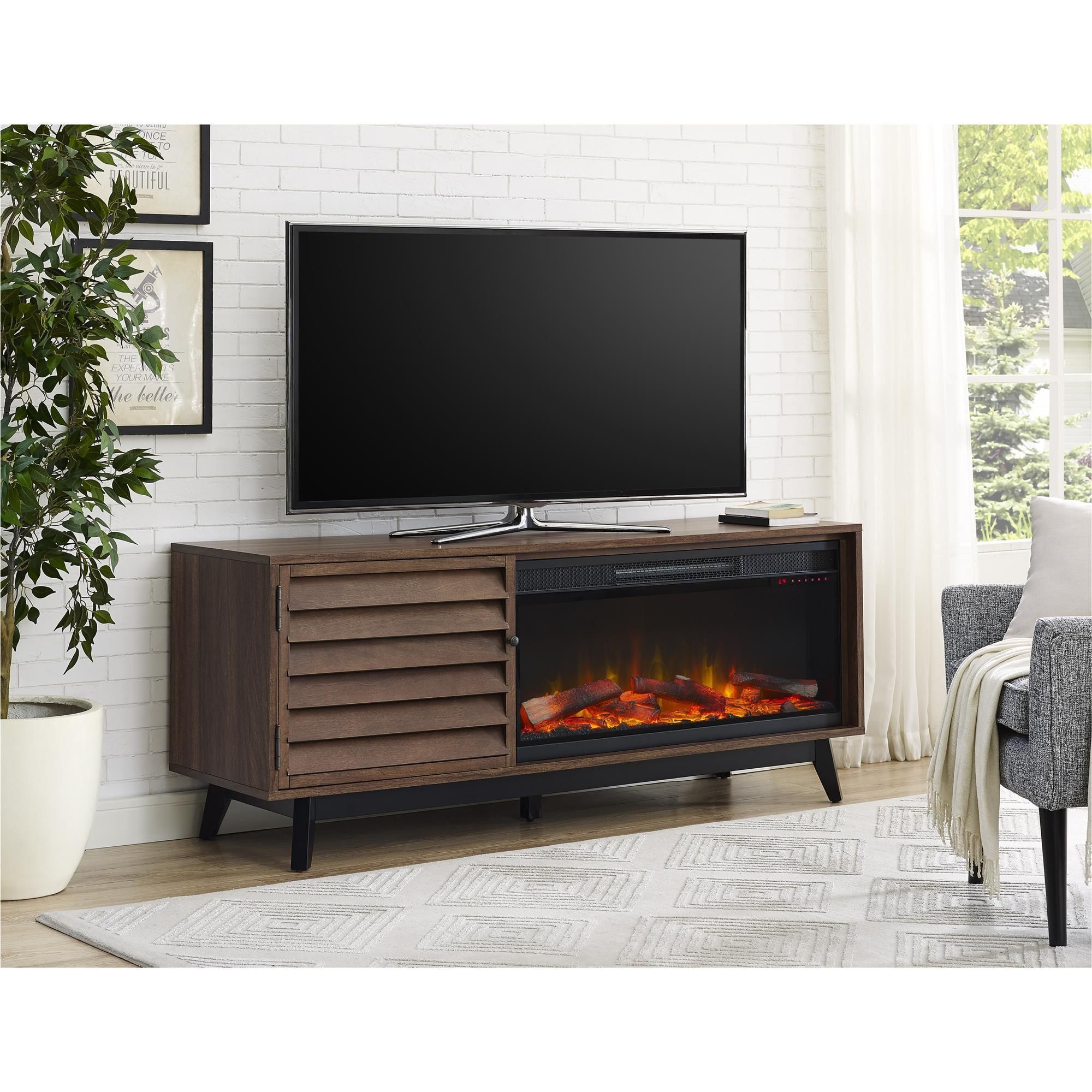 ameriwood home vaughn fireplace tv console for tvs up to 60 inches