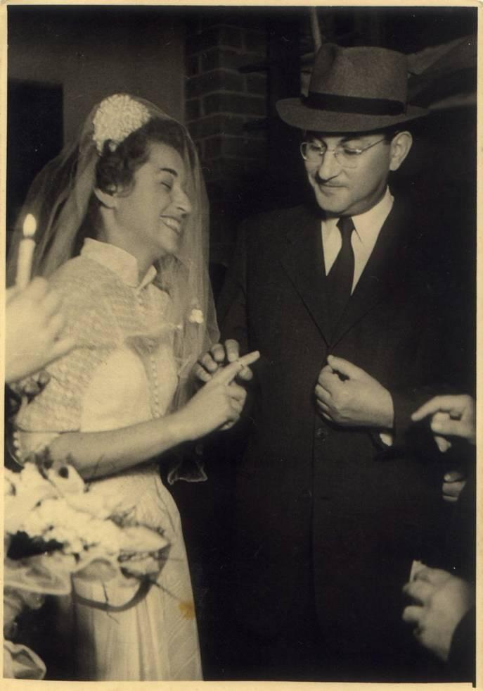 Jewish wedding in Israel, early 1950s