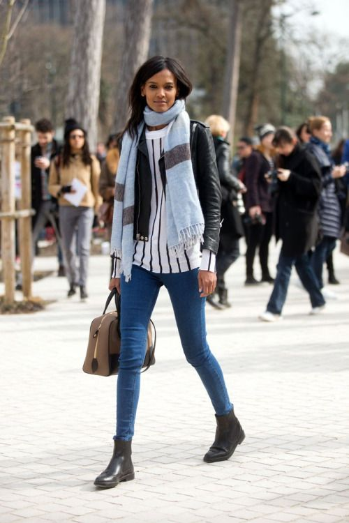 #leatherjacket #denim #boots #casual