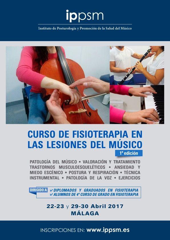 curso fisioterapeuta musicos, malaga, http://promocionmusical.es/: