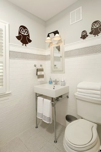 placement of accent tile Bathroom Pinterest Traditional