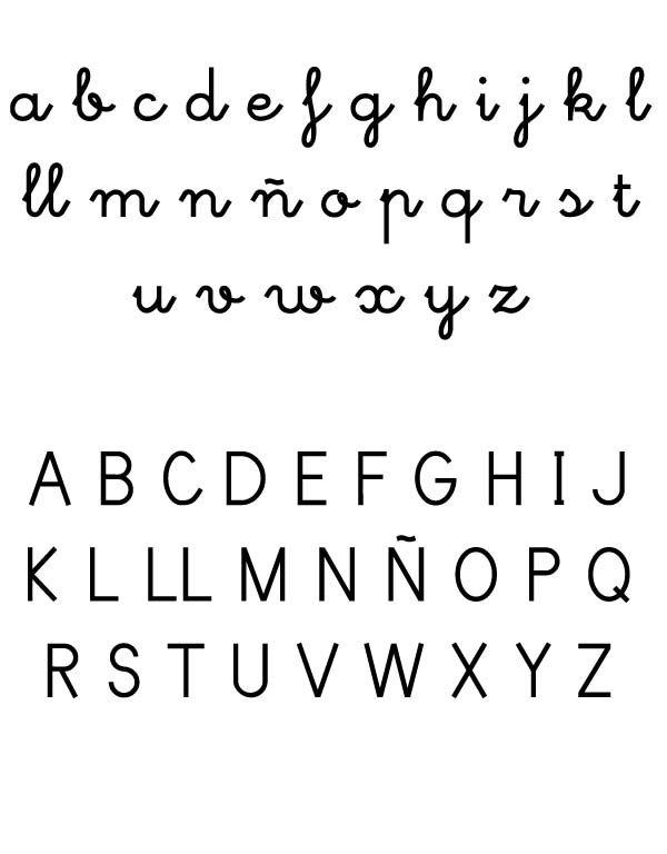 Abecedario minusculas mayusculas | Letras | Pinterest