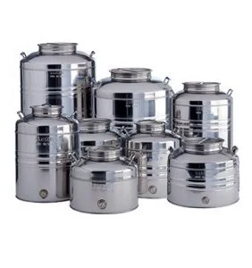 Contenitore Aggraffato Con Predisposizione Stainless Steel Drum Stainless Steel Containers Oil Storage