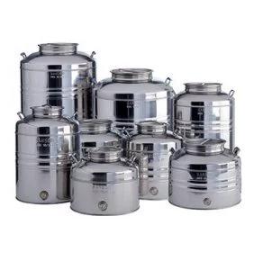 Contenitore Aggraffato Con Predisposizione Stainless Steel Drum Stainless Steel Containers Oil Storage