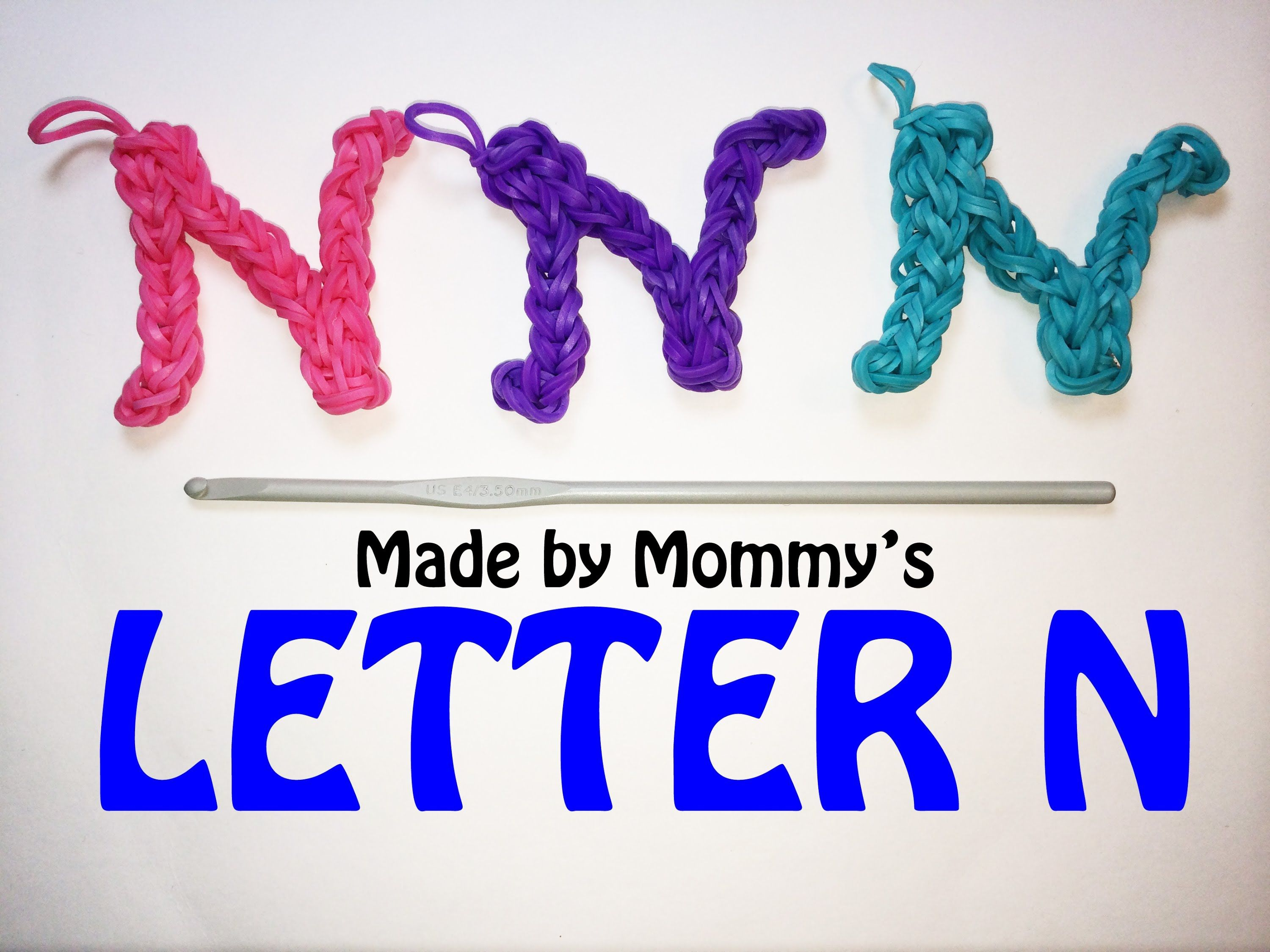 using just letter the charm watch youtube alphabet loom bands rainbow hook m