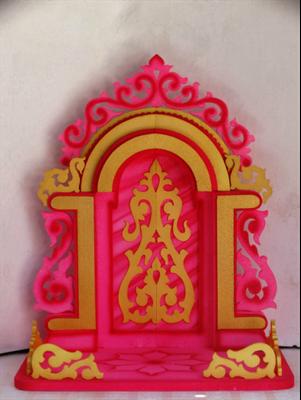 Buy pink aasan ganpati decoration makhar online in india for Room decor ulhasnagar