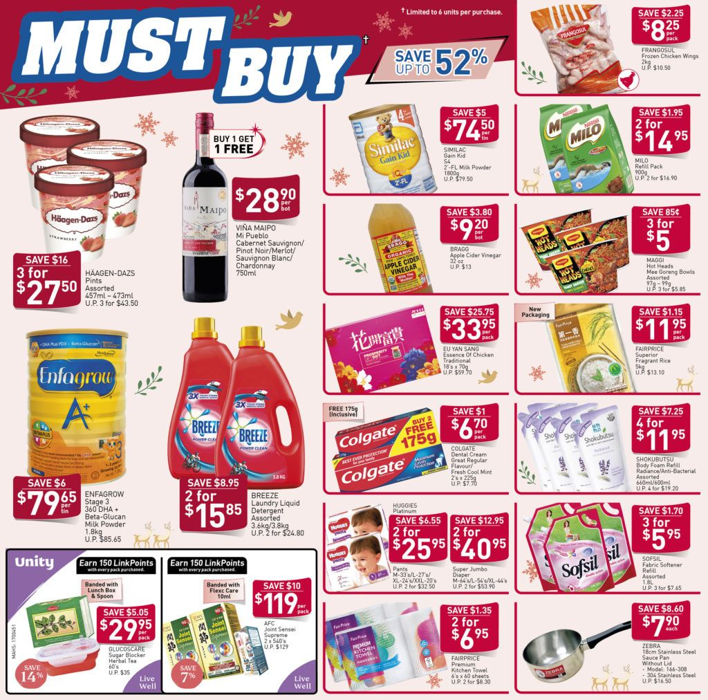 Ntuc Fairprice Sg Your Weekly Saver Promotions 19 25 Dec 2019 Savers Free Similac Christmas Countdown