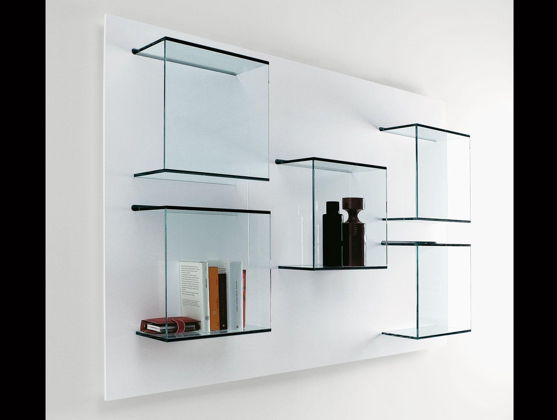 Glass Bookshelf Prateleiras De Vidro Nicho De Vidro Prateleiras