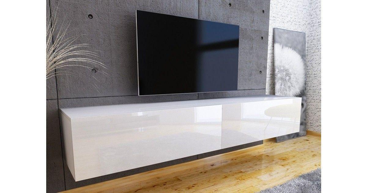 Ruime Tv Kast.Nasmaak Tv Meubel Galicia Hoogglans Wit 180 Cm Meubels Witte