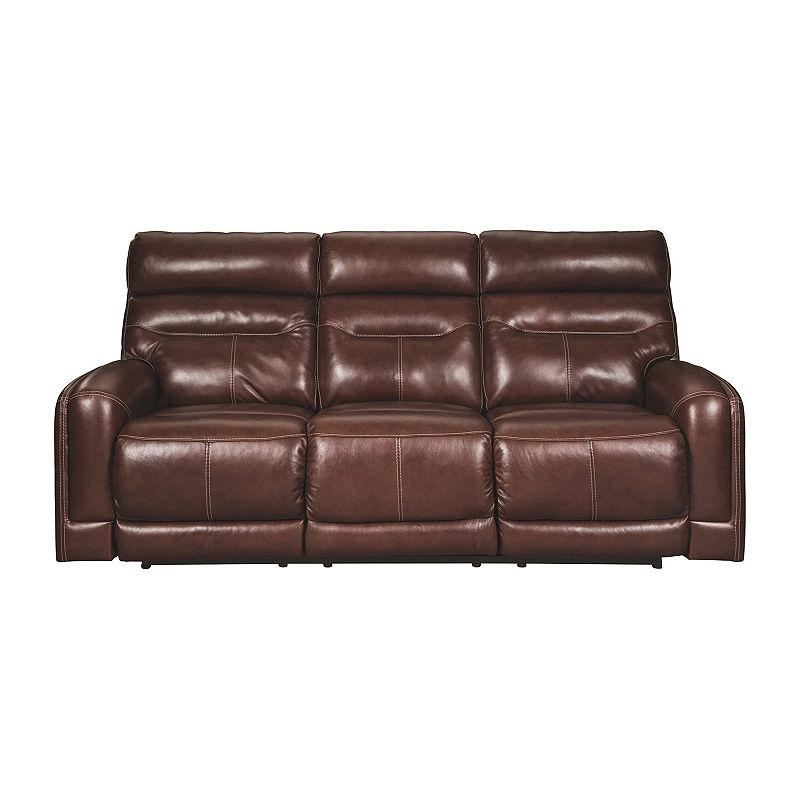 Signature Design By Ashley Sessom Track Arm Sofa Love Seat Reclining Sofa Power Reclining Loveseat