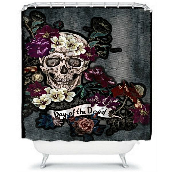 Sugar Skull Shower Curtain Skeleton Grunge Day Of The Dead 42 Liked