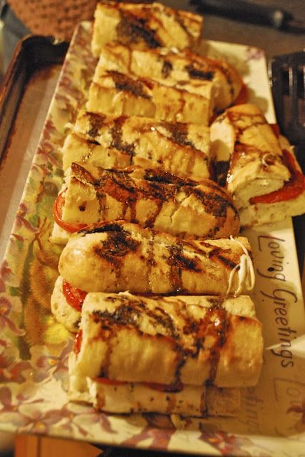 """""""Point-less"""" Meals: Roasted Tomato and Mozzarella Panini with Balsamic Syrup"""