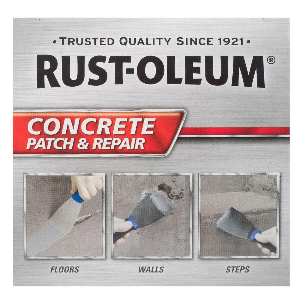 Rust Oleum 24 Oz Concrete Patch And Repair Kit 4 Pack 301012 The Home Depot In 2020 Concrete Refinishing Kit Repair Floors