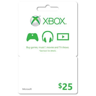 Xbox Gift card- any amount can be found at Walmart, Gamestop or ...