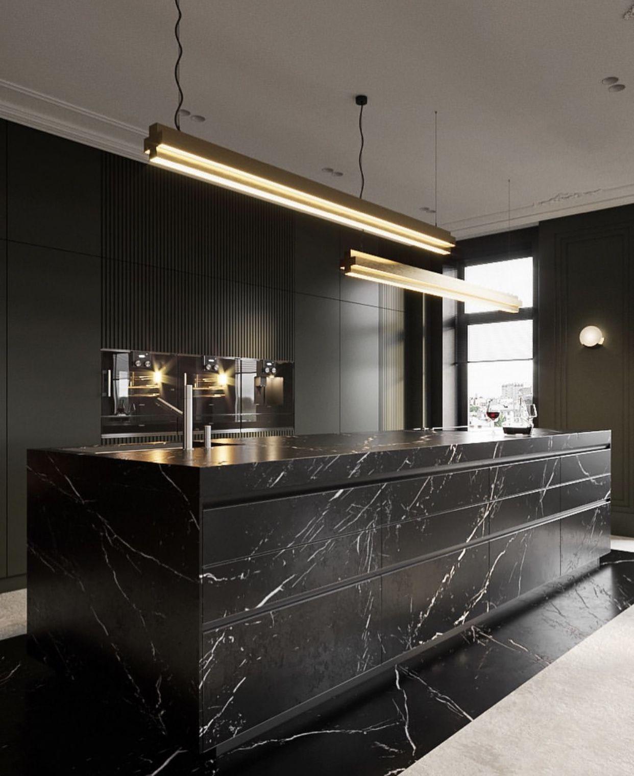 Black Marble Design Cucine Arredo Interni Cucina Arredamento Isola Cucina