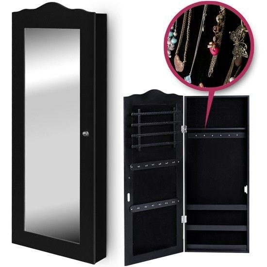 Armoire à bijoux noire avec miroir - 72,95€ | Wishlist | Pinterest