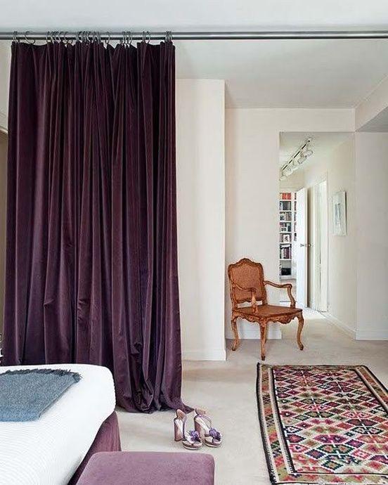 Luxurious Velvet Living Room Divider Bamboo Room Divider