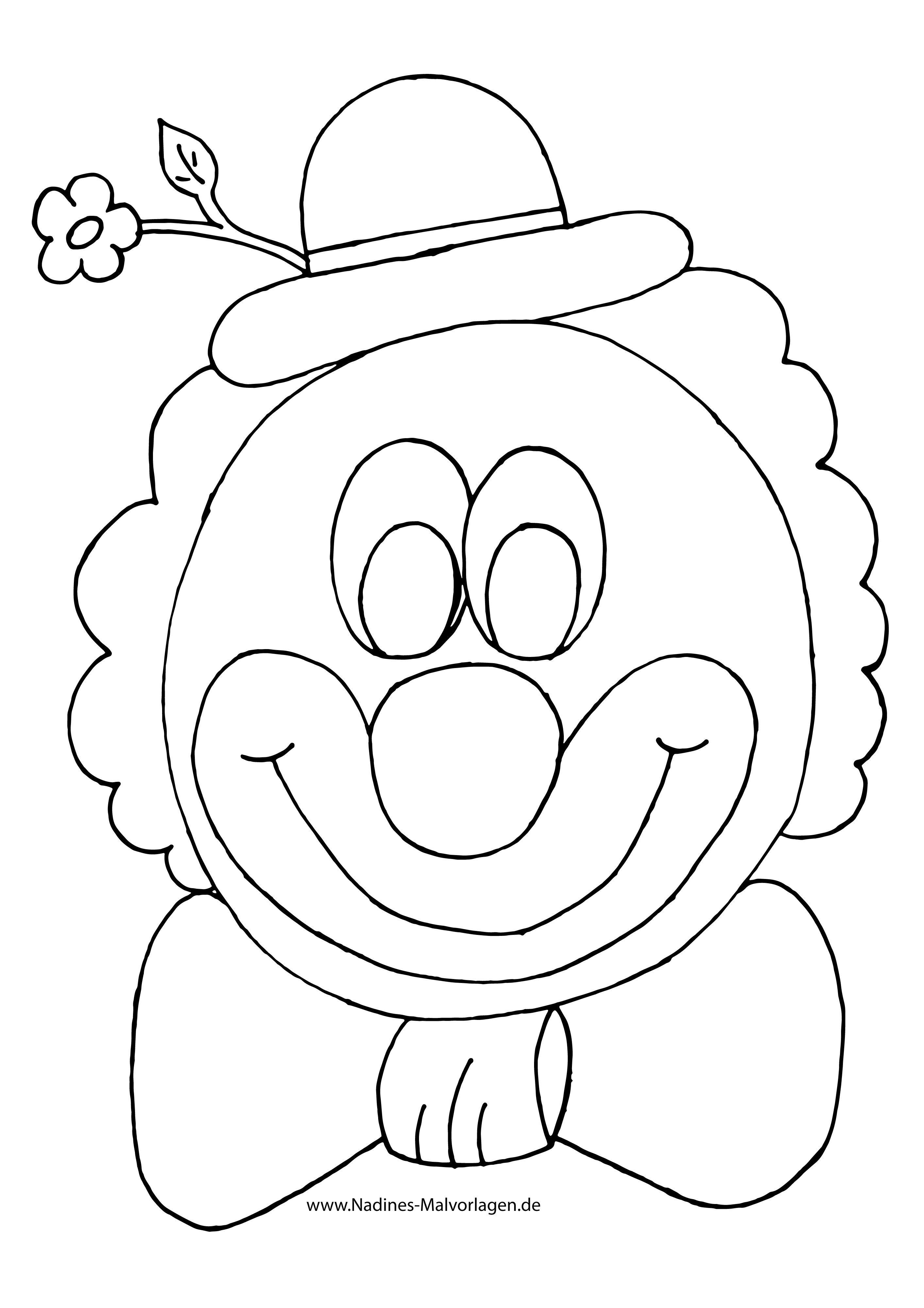 Frisch Clown Ausmalen   Clown basteln vorlage, Hase ...