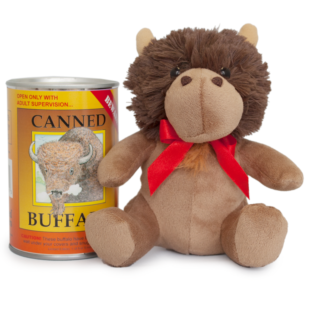 Canned buffalo animals information wood badge snuggles buffalo new baby products