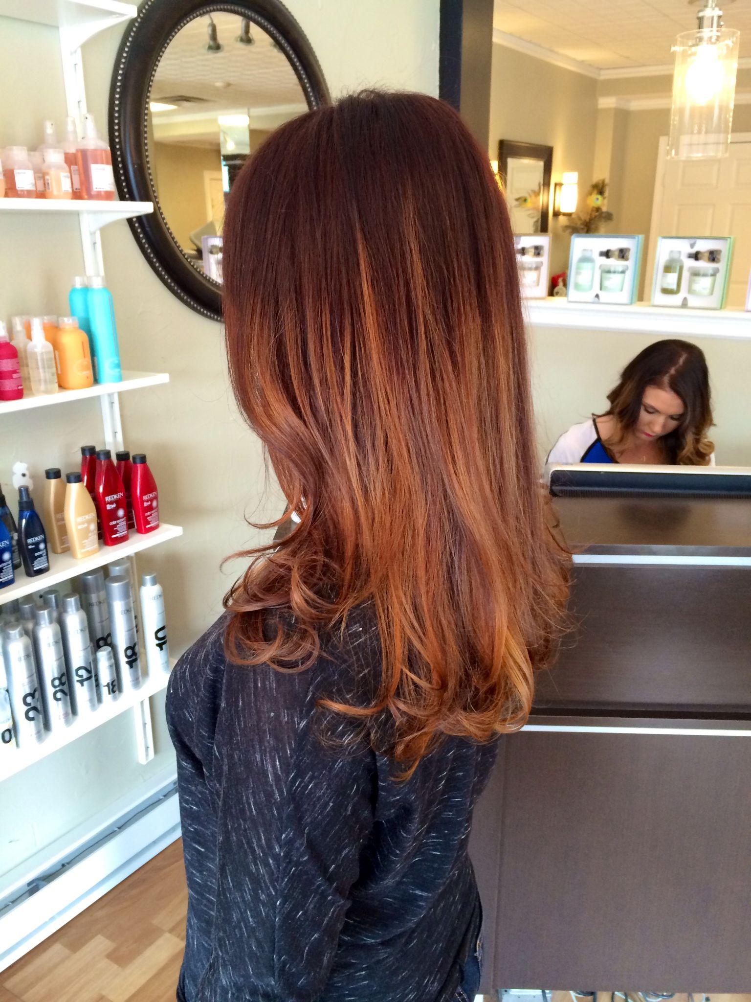 Image Result For Red Balayage Highlights What To Do With My Hair