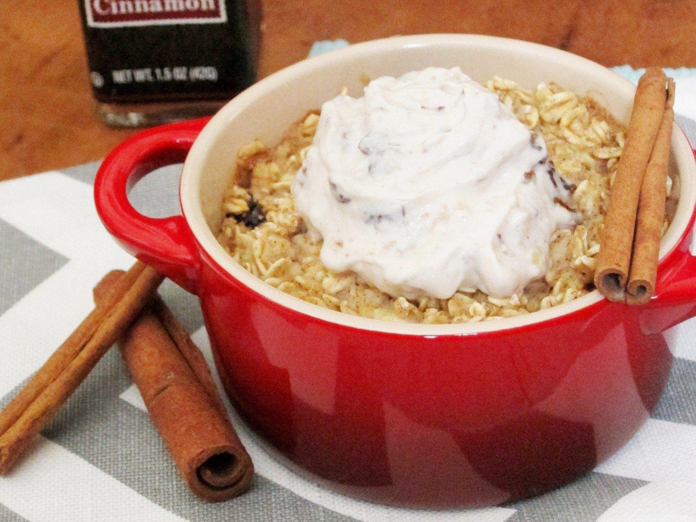Cinnamon-Raisin Baked Oatmeal with Raisin-Walnut Tofu Cream Cheese - The Oatmeal…