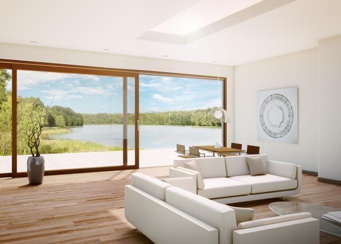 Fenster - Balkontüren - Schiebetüren - Hebeschiebetüren von UNILUX - grose fenster wohnzimmer