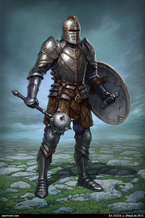 Referencia ao Knight , vestimentas , escudo e arma , estilo de art