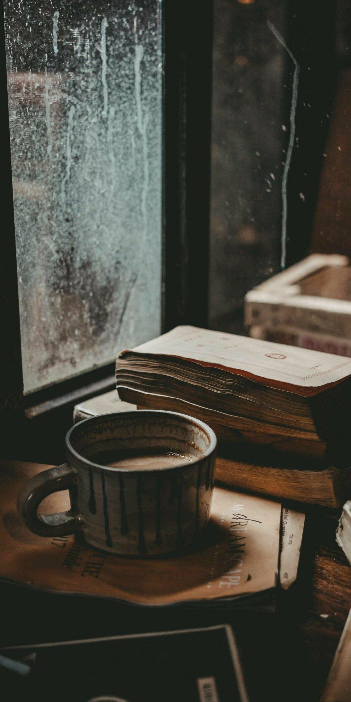 خلفيات قهوة Coffee كتب Books عالية الوضوح 14 Hari Hujan Secangkir Kopi Karya Seni Kopi
