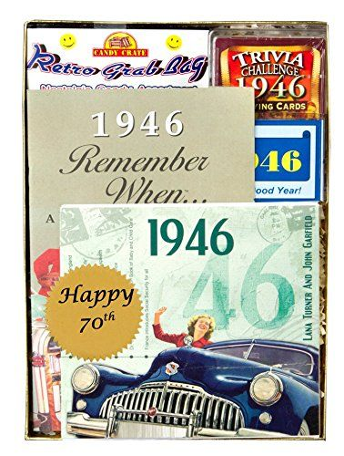 70th Birthday Gift for Men or Women Time Capsule from 1946 To