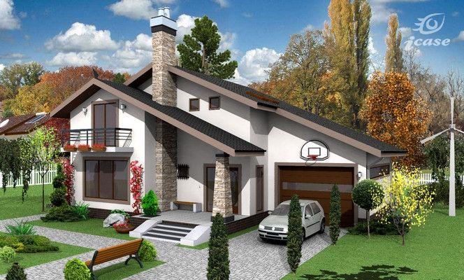 Detaliu proiect de casa casa cu etaj ce 028 proiecte for Case de vis cu etaj