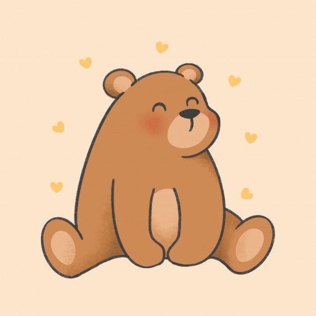 Bear Cartoon Hand Drawn Style Cute Bear Drawings Bear Cartoon Cute Doodles