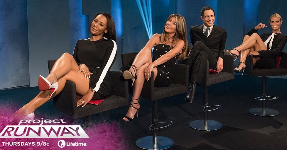 The designers go #3D for tonights challenge on @projectrunway on @lifetimetv. @officialmelb is our guest judge! by heidiklum
