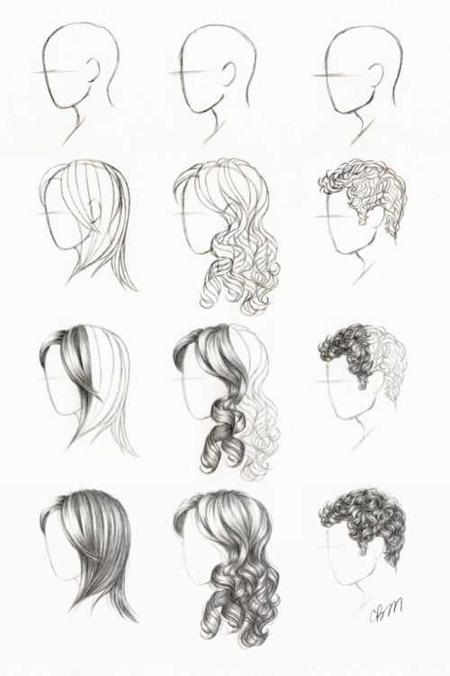 Drawing Tutorial Tutorials Curly Straight Short Hair Styles How To Draw Hair Drawing Hair Tutorial Drawing Tutorial