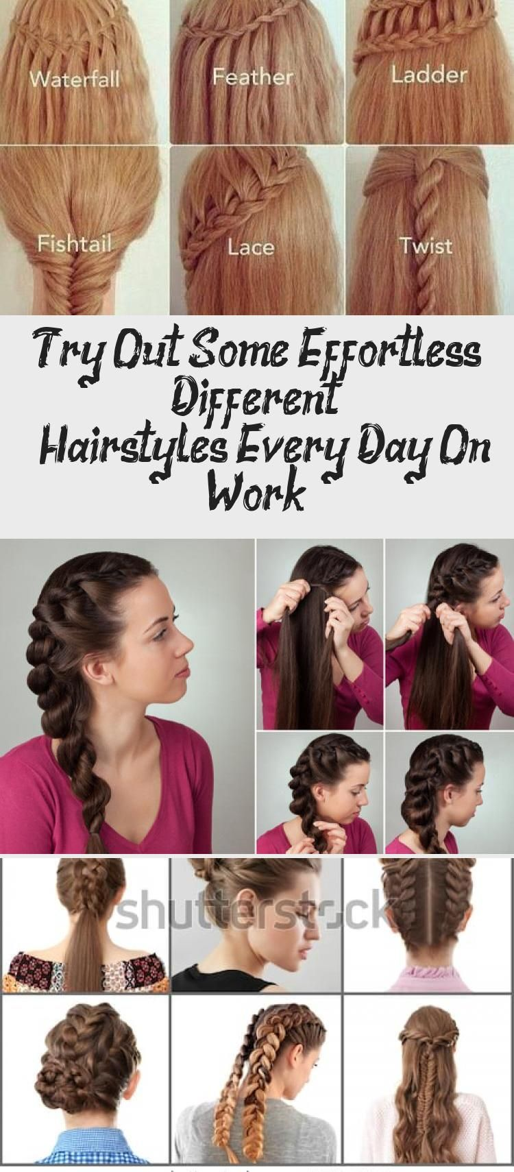 Try Out Some Effortless Different Hairstyles Every Day On Work 7 Easy Everyday Hairstyles For Each Day O In 2020 Everyday Hairstyles Different Hairstyles Hair Styles