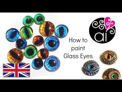 Come dipingere occhi in vetro per le creazioni in Fimo | Tutorial