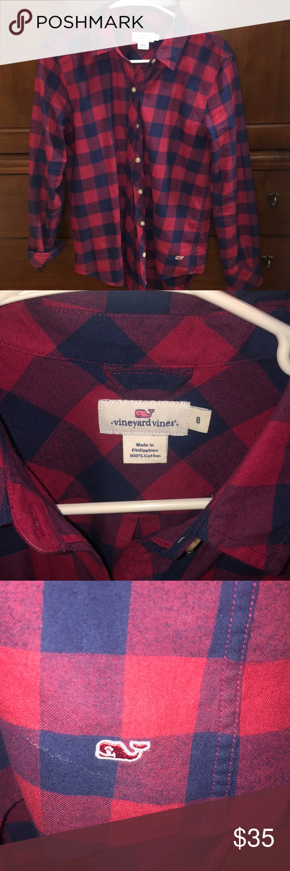 Vineyard Vines Buffalo plaid flannel Excellent condition Worn twice Perfect fobuffalo