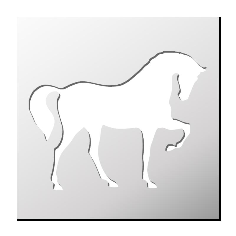 Pochoir cheval pochoirs et motifs pinterest - Pochoir deco gratuit a imprimer ...