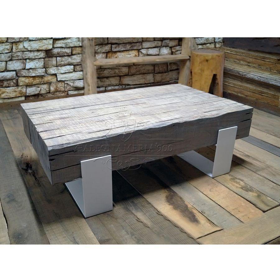 Tavolini word tavolino da salotto con travi di legno for Divani con gambe