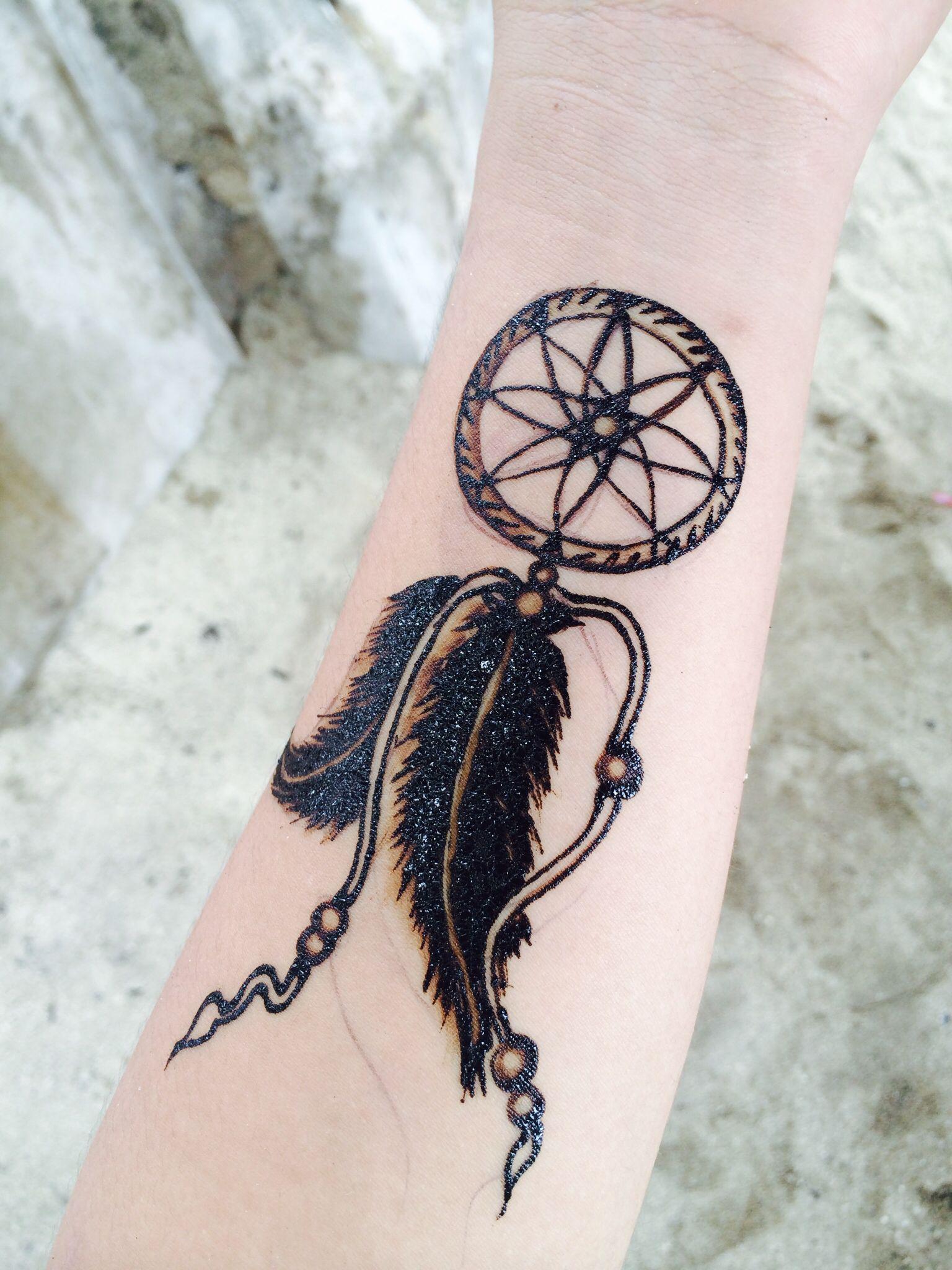 Dream Catcher Henna Tattoo Designs: My Dream Catcher Henna Tattoo. ️