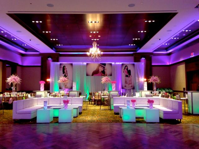This Beautiful Lounge Furniture Setup Was Complete With Sofas And Unique Centerpieces Mitzvahmarket
