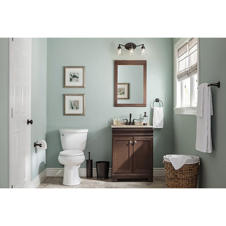 Shop Style Selections Windell Auburn Integral Single Sink Bathroom Vanity  With Solid Surface Top (Common: 24 In X 19 In; Actual