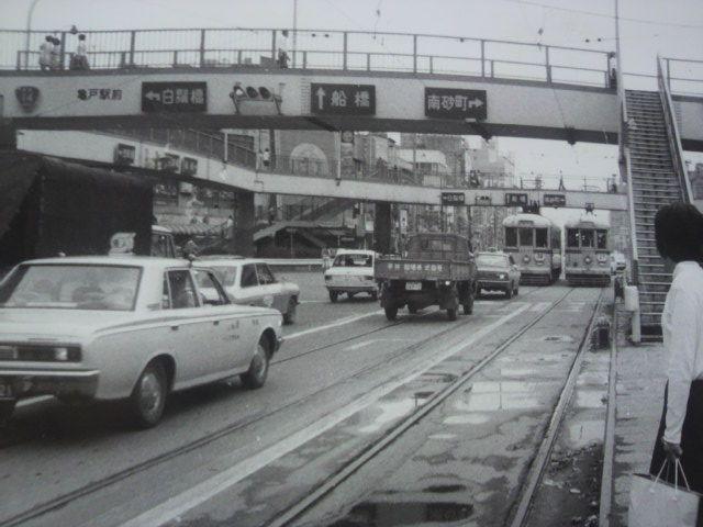 都電6000型 亀戸駅前でダブル Tokyo Japan Japan Showa Period