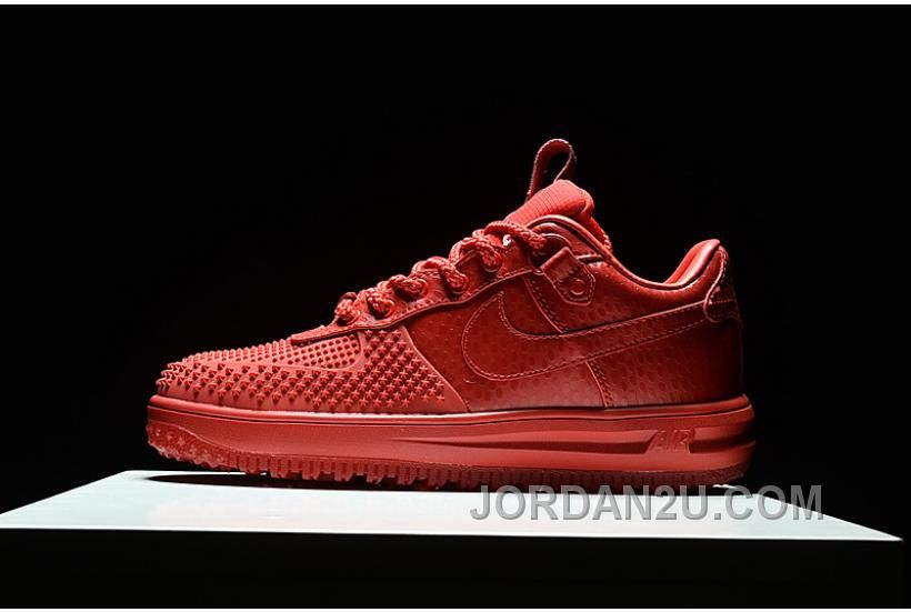 7e4f79d1b9d6 2017 Nike Lunar Force 1 Duckboots Fashion Men Sneakers Red Air Force 1