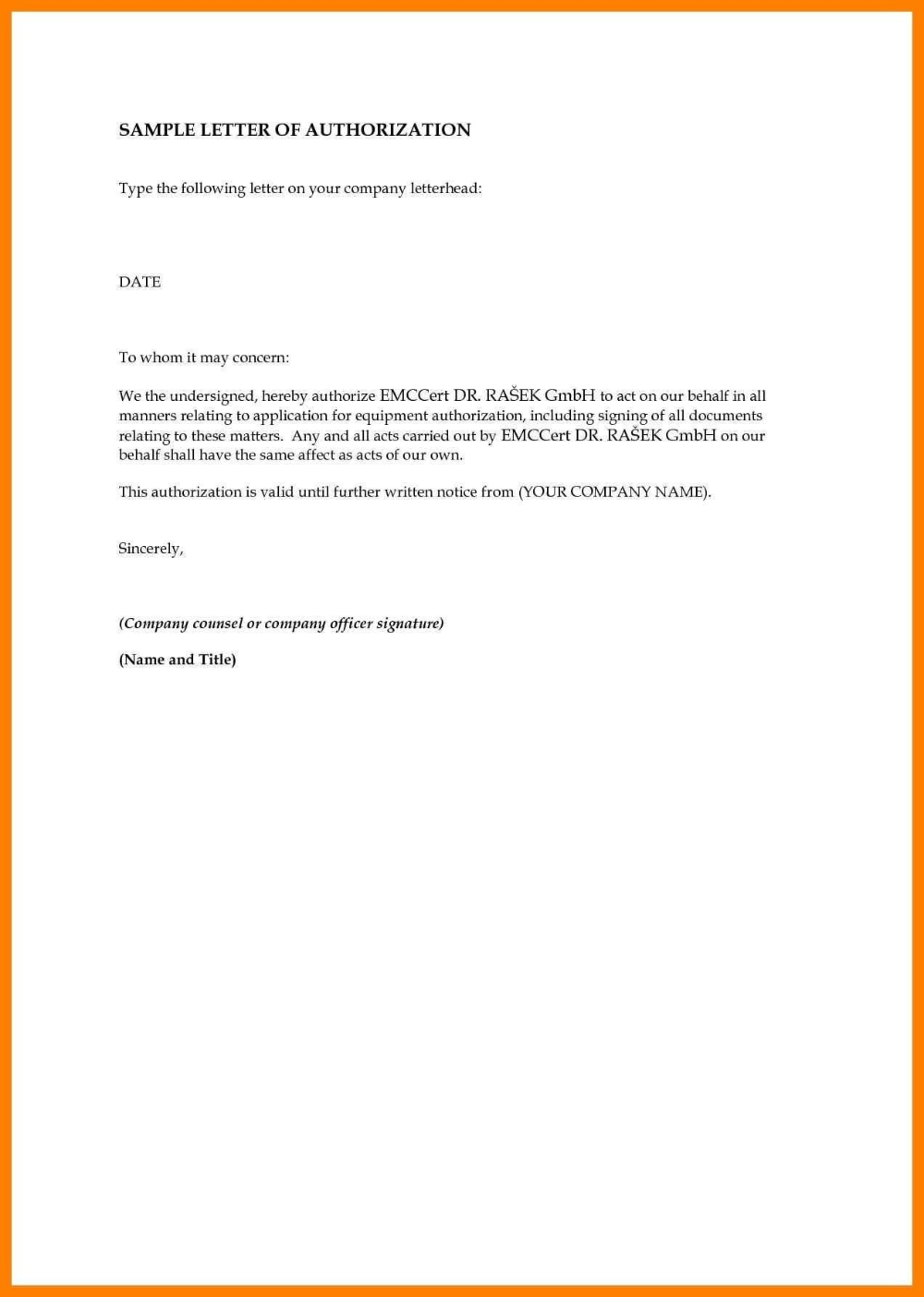 Sample Authorization Letter Birth Certificate Nso Fresh
